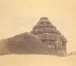 General view from the south-west of the mandapa of the Surya Temple or Black Pagoda, Konarka